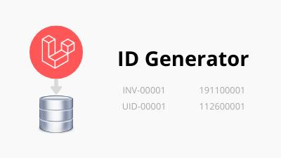 Laravel custom ID generator