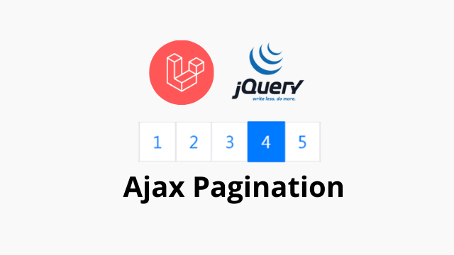 Laravel 6 ajax pagination with jQuery